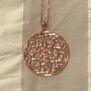 NWT Copper pendant w/ copper fringe earrings